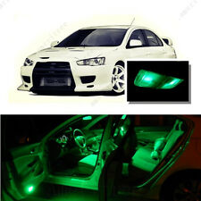 For Mitsubishi Lancer 2008-2015 Green LED Interior Kit + Green License Light LED
