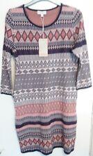 Monsoon Jade Jumper Dress Size M Jacquard Design Multi Coloured Bnwt