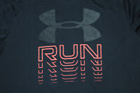Under Armour Run Mens T-Shirt XL Fitted HeatGear Black Athletic Running Training