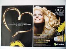 PUBLICITE-ADVERTISING :  GARNIER Olia [2pages] 2014 Coiffure