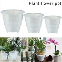 Mesh Pot Clear Orchid Plastic Flower Planter Home Garden Pot Planter Favor New