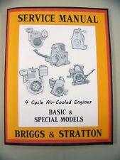 BRIGGS STRATTON L LA M MC MB MF MH ENGINE SERVICE SHOP OVERHAUL REPAIR MANUAL