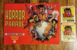 Horror Parade Americana Series Sticker Book 1970's album + empty packs