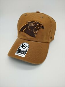 Carolina Panthers '47 Brand Carhartt Clean up Adjustable Hat cap new NFL brown