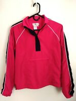 Women's Size Small Coldwater Creek Pink 1/2 Zip Mesh Lined Big Pocket Jacket