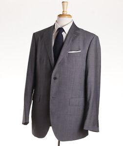 Luigi Bianchi Medium Gray Woven Year-Round Wool Suit 44R (Eu 54) NWT