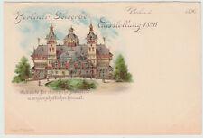 Künstlerkarte Berliner Gewerbe-Ausstellung 1896, Chemische Industrie