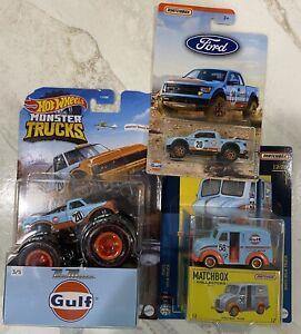 Hot Wheels Pure Muscle Gulf Monster Trucks Matchbox Divco Milk Truck,  F150 Lot