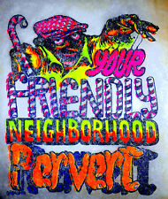 "Vintage 1971 Roach ""YOUR FRIENDLY NEIGHBORHOOD PERVERT"" Iron-on Transfer"