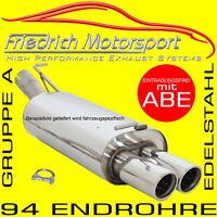 FRIEDRICH MOTORSPORT V2A SPORTAUSPUFF BMW 316d 318d Limo+Touring F30/F31