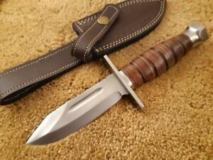 Custom Handmade 1095 STEEL KA-BAR Knife, Bush Craft Knife, Survival Knife