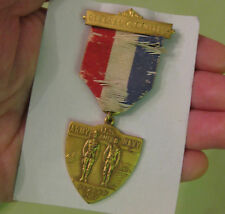 Antique 1917 US Army and Navy General Commitee Ribbon Badge