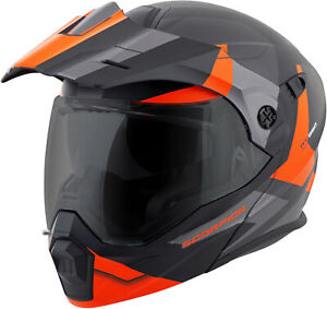 Scorpion Exo-At950 Cold Weather Helmet W Dual Pane Shield Orange size X-Small