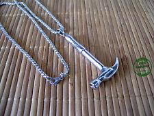 Collana in Acciaio Inossidabile Martello Falegname Carpentiere Lavori Mestieri