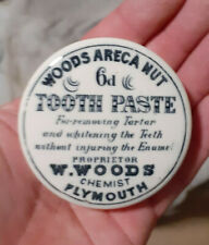 Victorian Pot Lid Woods Areca Nut Tooth Paste 6d Chemist Plymouth