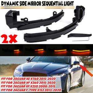 Dynamic LED Side Repeater Indicator Light For Jaguar XE X760 XF X250 XJ X351 XK