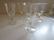 Signed Hawkes Crystal Goblets Colonial Optic  8 PC Set  6.25""