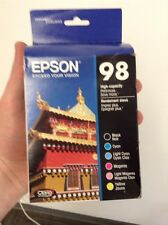 Epson 98 Black & C/M/Y/LC/LM Ink T098120-BCS High Yield Combo 6/Pack Exp 2017/18