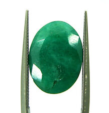7.03 Ct Certified Natural Green Emerald Loose Gemstone Oval Cut Stone - P111774