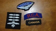W11 CANADIAN AIR CADETS  CANADIAN AIR FORCE  FELT PATCH  BX E 8