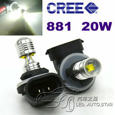 2 x H27W/2 881 894 899 LED 20W SMD Cree Fog Light Daytime Running Projector Bulb