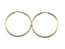 New Ladies 9ct 9Carat Yellow Gold Thin Sleeper Hoop Earrings 18mm Hallmarked