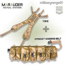 Marauder Special Forces Airborne Webbing Set DESERT (3 Pocket Belt + yoke)