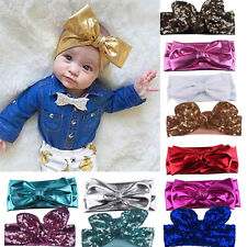 Lovely Kids Girls Baby Headband Bowknot Sequined Hair Band Accessories Headwear