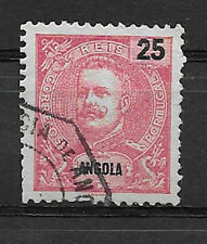ANGOLA , PORTUGAL , 1903, KING CARLOS ,  25r  STAMP , PERF , USED