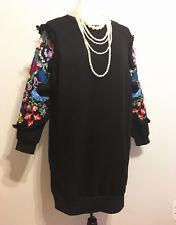New Womens Long Sleeve Hoodie Sweatshirt Jumper Hooded Mini Dress Tops Blouse