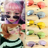Newly Women Round Glasses Lens Sunglasses Eyewear Plastic Frame Glasses Gift