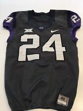 Game Worn Used Nike TCU Horned Frogs Football Jersey #24 Size 40 Gray
