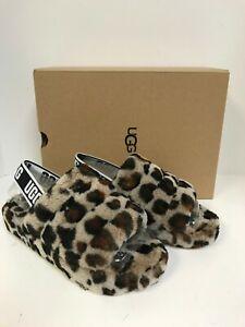 Ugg Fluff Yeah Slide Amphora(Leopard) Sheepskin Slipper