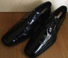 Men's Studio Via Spiga Laconi Black Patent Leather Lace Up Oxford Shoes Size 10D