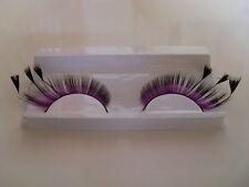 faux cils violet noir à plumes