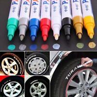 12 Colours Classy Car Tyre Tire Tread Rubber Metal Permanent Paint Marker Pen ZH