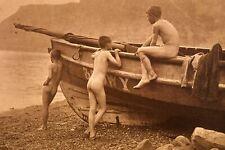 Three Naked Boys, Frank Meadow Sutcliffe, Vintage Photo (Reprint)