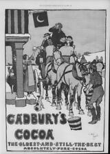 1900 antique print Publicité-Cadbury 's Cocoa CHEVAUX TRANSPORT Inn (133)