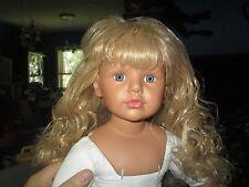 """RF Collection Künstlerpuppe Vinyl Doll 28"""" Blonde Blue  188 / 999 needs work"""