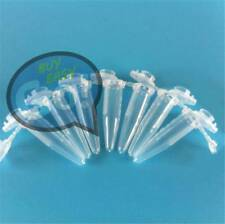 Lab Clear Micro Plastic Test Tube Centrifuge Vial Snap Cap Containe 1.5ml 100Pcs