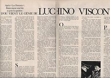 Coupure de presse Clipping 1970 Luchino Visconti  (2 pages)
