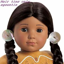 New American Girl Kaya Accessories - Real Shell HAIR TIES ONLY For Meet Outfit