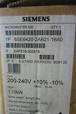 6se64202ab211ba0 Automation, Antriebe & Motoren Antriebe & Bewegungssteuerung Neu Siemens 6se6420-2ab21-1ba0 Micromaster 420