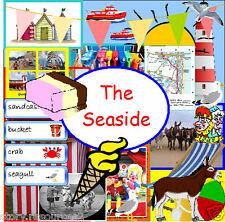 SEASIDE TOPIC TEACHING RESOURCE KS1 EYFS SUMMER  HOLIDAYS WEATHER Teacher on CD