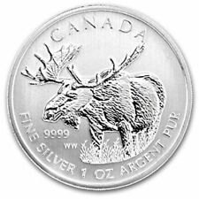 Canada 2012 $5 1 oz Pure Silver Coin Canadian Wildlife Series Moose BU