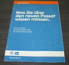 Technische Information VW Passat 35i  B3 Technik Kundendienst  01/1988