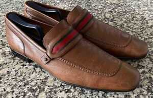 GUCCI VINTAGE LEATHER LOAFERS / SHOES MEN SZ 12 D USA