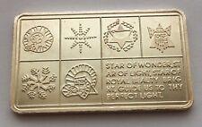 1973 STAR OF WONDER SILVER .999 ONE OUNCE BAR  MOUNT EVEREST MINT
