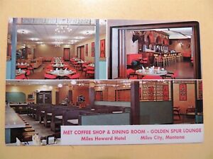 Miles Howard Hotel Miles City Montana vintage postcard Coffee Shop & Lounge