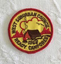 Vintage BSA West Suburban Council Patch 1968 Ready Camporee Boy Scouts